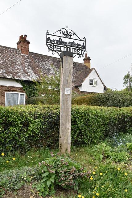Speldhurst Village sign