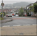 ST3090 : Misty view towards Brynglas in late Summer, Newport by Jaggery