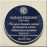 SO8554 : Blue plaque to Sarah Siddons by Philip Halling