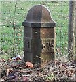 NY5520 : Old Milepost by the A6 west of Thrimby by Terry Moore
