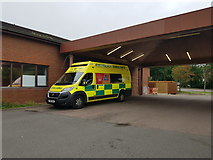 SK9871 : Ambulance outside the Emergency Department by DS Pugh