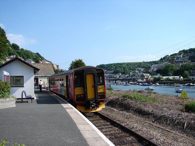 A train from Liskeard at Looe