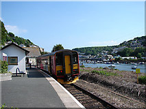 SX2553 : A train from Liskeard at Looe by John Lucas