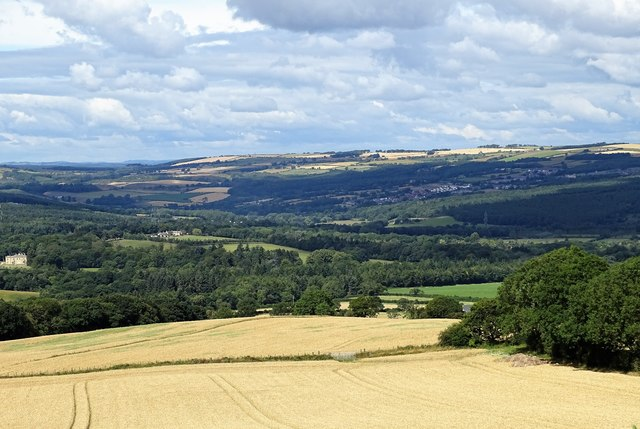 View up the valley from Mountsett