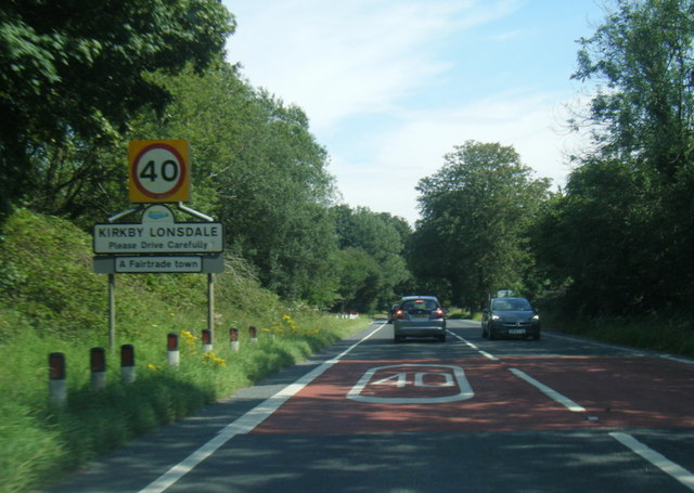 A65 at Kirkby Lonsdale boundary