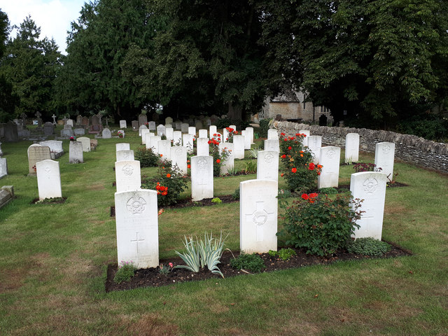 Military graves in Black Bourton churchyard