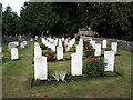 SP2804 : Military graves in Black Bourton churchyard by Vieve Forward