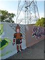 TQ5876 : Street art on West Thurrock Riverside by Marathon