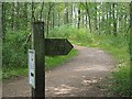SE7889 : Waymarker on Cawthorn Roman Camps trail by Graham Hogg
