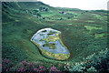 NM4787 : Above the Giant's Footprint lochan, Isle of Eigg by Julian Paren