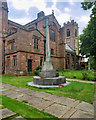 SD8103 : Prestwich Parish War Memorial and Church by David Dixon