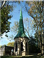 SO9568 : Avoncroft Museum - fibreglass spire by Chris Allen