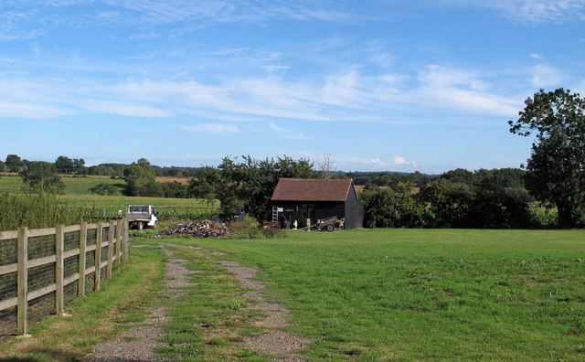 Field and outbuilding near Sheep House Gate, Navestock