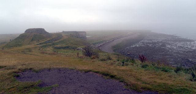 View east from outside Lindisfarne Castle