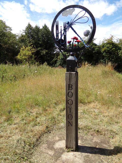 Booton Village sign