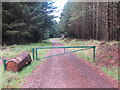 NT8812 : Gate on Forest Track, The Bank near Fairhaugh by Geoff Holland