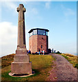 NU1241 : War Memorial and Watch Tower, The Heugh, Lindisfarne by habiloid