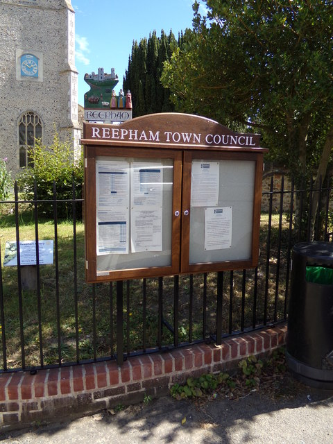 Reepham Town Notice Board