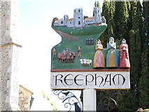 TG1022 : Reepham Town sign by Geographer