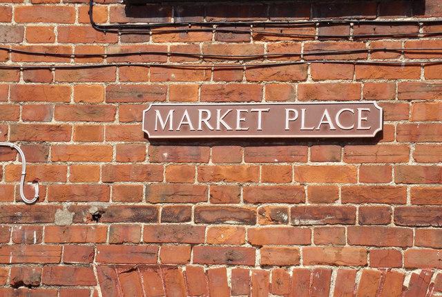 Market Place sign