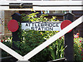 TG1217 : Attlebridge Station sign by Adrian Cable