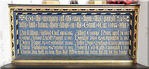 TL9568 : The War Memorial plaque at Stowlangtoft by Adrian S Pye