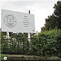 SO3700 : Usk Athletic Club nameboard by Jaggery