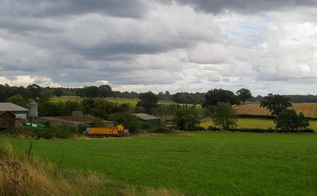 Public footpath runs across field near Rochetts Farm, South Weald