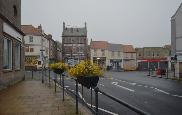 Marygate seen from Golden Square, Berwick