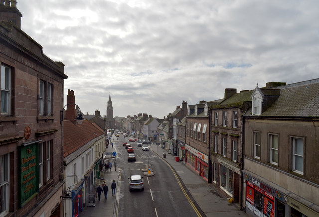Marygate seen from the top of Scots Gate, Berwick