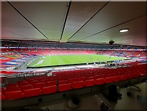 TQ1985 : Wembley Stadium viewed from the press area by Steve Daniels