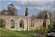 TF6013 : Ruined church of St Peter by N Chadwick