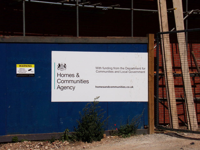 Homes & Communities Agency sign