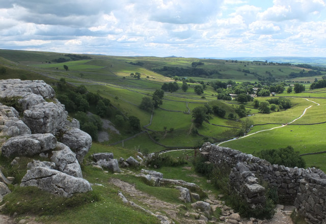 Path descending from Malham Cove to Malham Beck