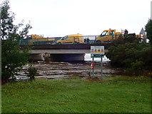 J3731 : Newry, Mourne and Down Council vehicles on the Shimna Road Bridge by Eric Jones
