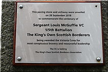 NX4355 : Sergeant Louis McGuffie VC, Wigtown by Billy McCrorie