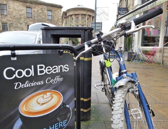 Outside the Bridge cafe, Todmorden