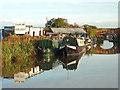 SJ6735 : Orwell's Boatyard near Market Drayton by Roger  Kidd