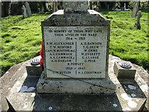 TF5315 : Terrington St. John's War Memorial (names) by Adrian S Pye