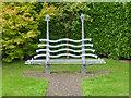 SO8351 : A seat in the graveyard, Powick by Chris Allen