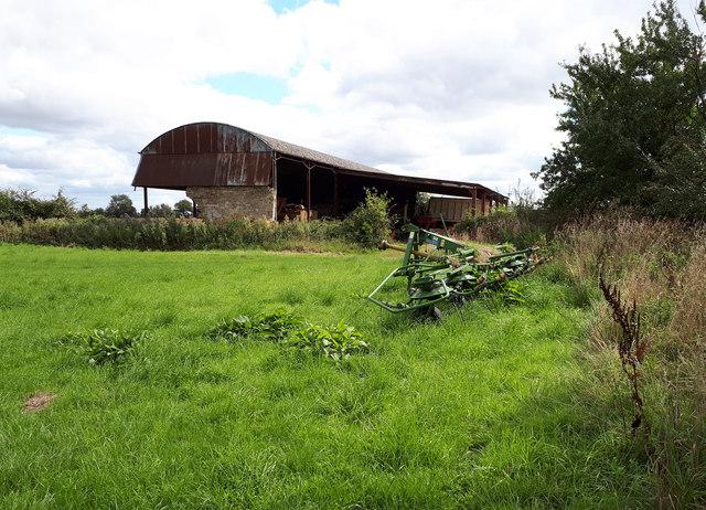 Dutch barn and farm machinery near D'Arcy Dalton Way