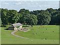 SE3338 : Cricket pavilion, Roundhay Park by Stephen Craven