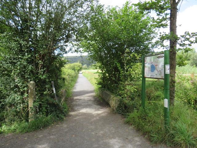Strawberry Line path near Cheddar