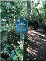 SJ8677 : Peak and Northern Footpath Society, Sign No 423 by Philip Cornwall