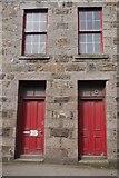 NJ9967 : Doors, Castle Street by Richard Webb