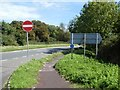 SY6693 : Shared path by A37, near Higher Wrackleford by David Smith