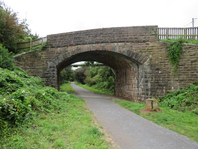 Bridge over the Strawberry Line path, Winscombe