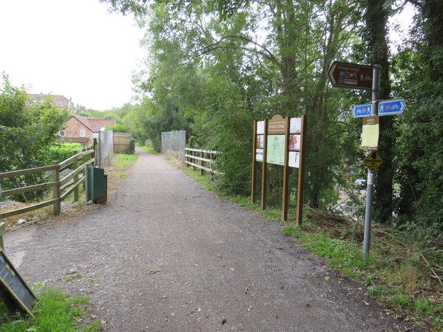 Strawberry Line path at Winscombe