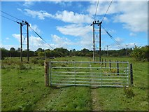 NS3977 : New fence and gate on core path by Lairich Rig