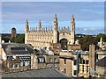 TL4458 : A skyline view of King's College Chapel in Cambridge by Richard Humphrey
